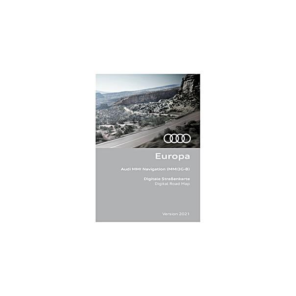 Audi Navigatie update MMI3G-B, Europa 2021