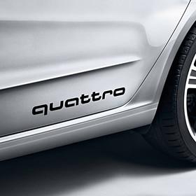 Audi quattro sticker, zwart