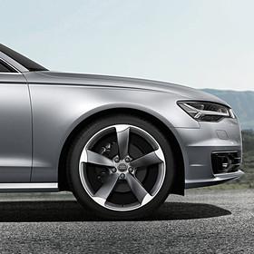 Audi 20 inch lichtmetalen zomerset, 5-arm Rotor titaniumlook