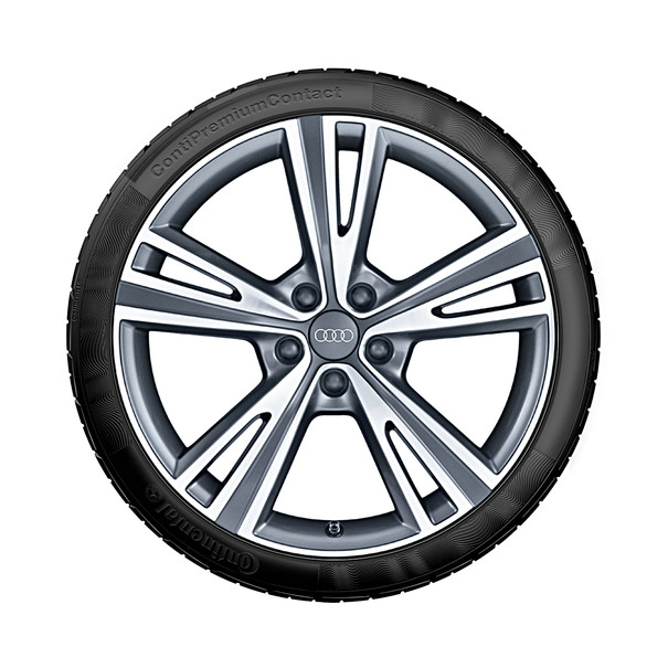 Audi 19 inch lichtmetalen zomerset, 5-semi-V-spaak