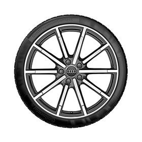 Audi 19 inch lichtmetalen zomerset, 10 spaaks titaniumlook