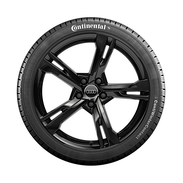Audi 19 inch lichtmetalen winterset, 5-Arm Ramus zwart