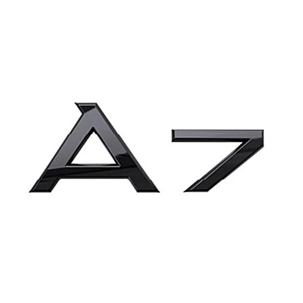 Audi Modeltype zwart achterzijde A7