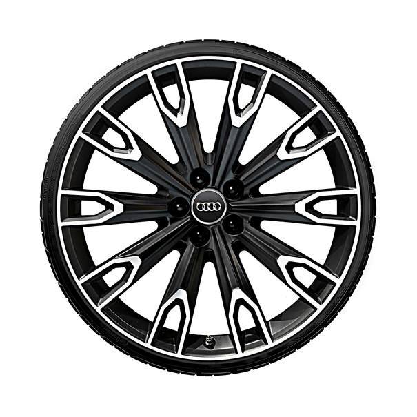 Audi 21 inch lichtmetalen zomerset, 10-arm Talea mat zwart