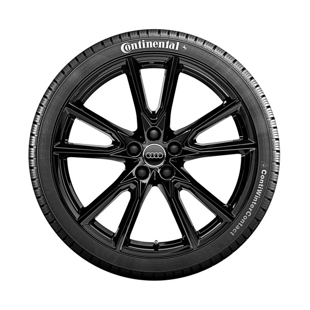 Audi 20 inch lichtmetalen winterset, 5-V spaak zwart