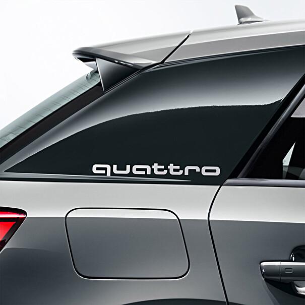 Audi Sierfolie quattro Q2 zilver