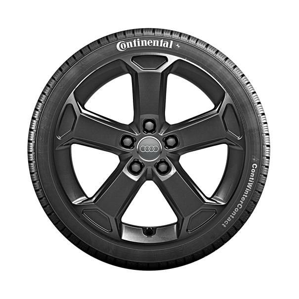 Audi 17 inch lichtmetalen winterset, 5-arm Latus zwart
