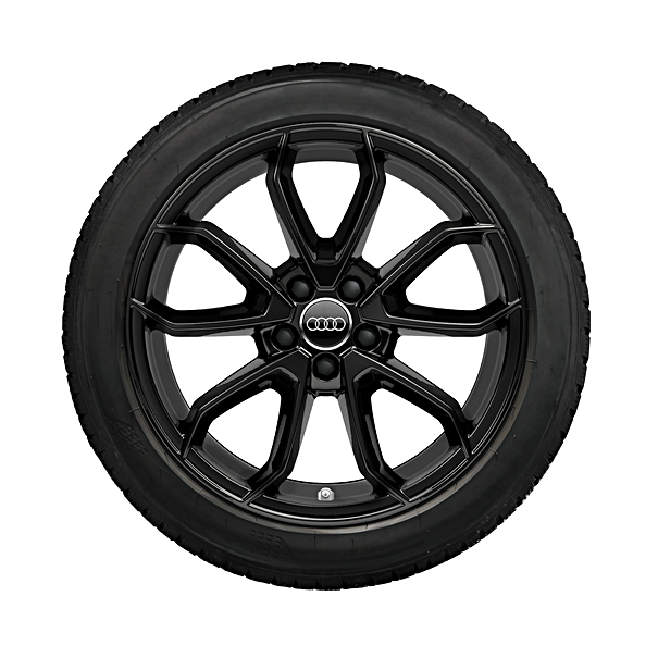 Audi 17 inch lichtmetalen winterset, 5 arm Carabus design, zwart