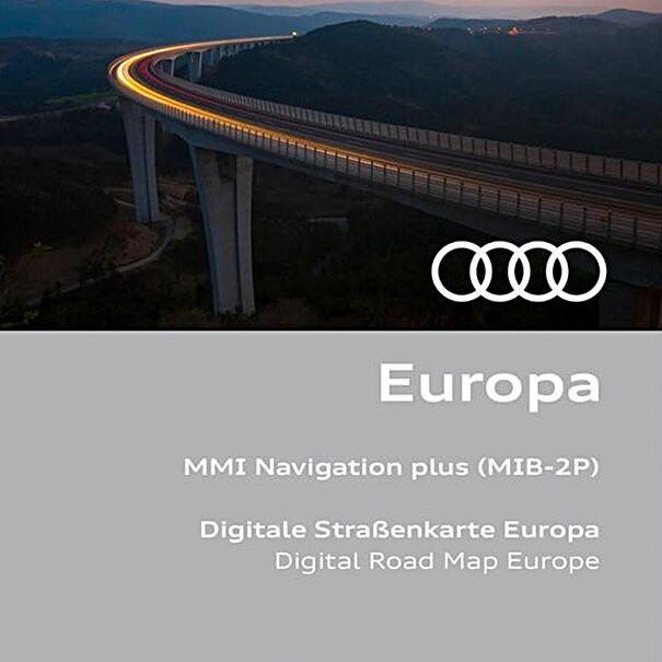 Navigatie update MMI, Europa 2021/2022, inclusief Audi connect diensten en infotainment basis