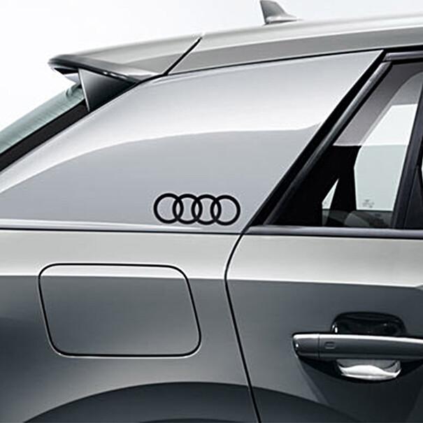 Decorfolie Audi ringen zwart