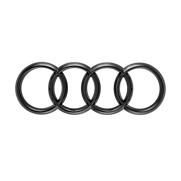 Audi ringen zwart Q4 voorzijde
