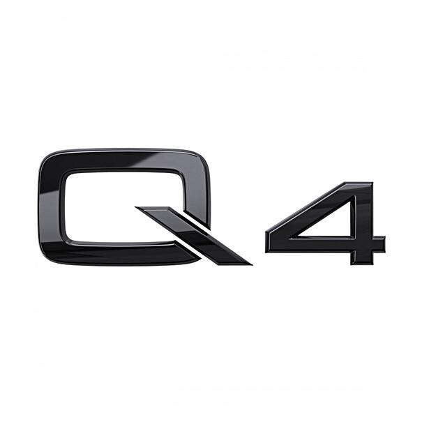 Audi Modeltype zwart achterzijde Q4