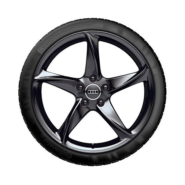 Audi 19 inch lichtmetalen zomerset, 5-arm Turbo zwart