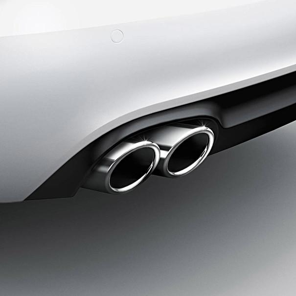 Audi Chromen uitlaatsierstuk (dubbel)