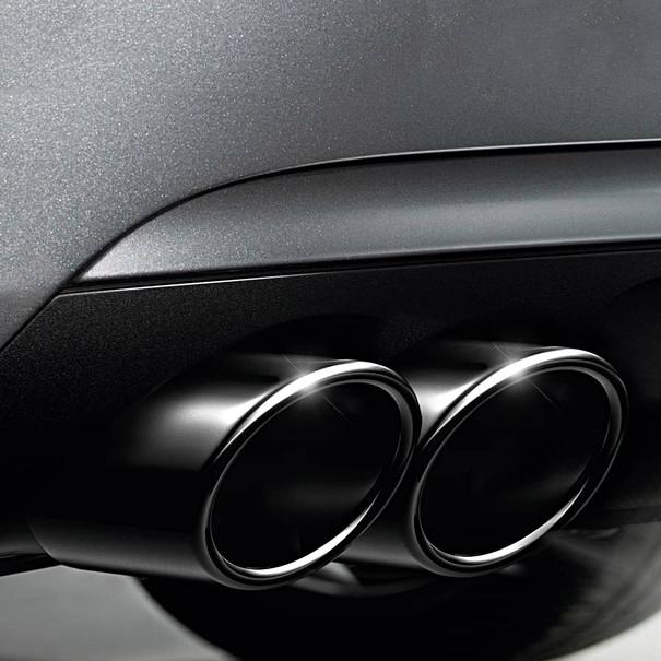 Audi Zwart chromen uitlaatsierstuk (dubbel)