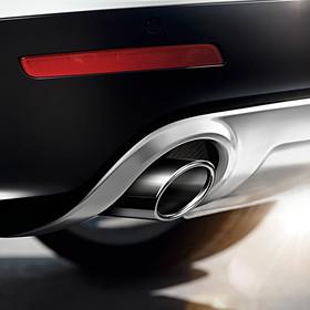 Audi Mat aluminium uitlaatsierstuk, links + rechts