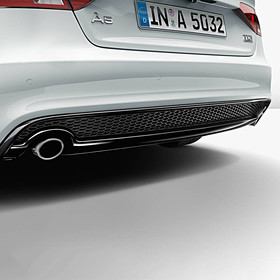 Audi Chromen uitlaatsierstuk, links + rechts