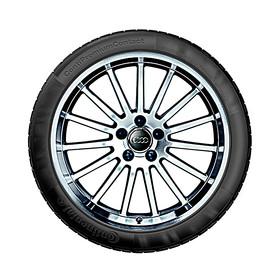 Audi 18 inch lichtmetalen zomerset, 15-spaak glanzend zilver