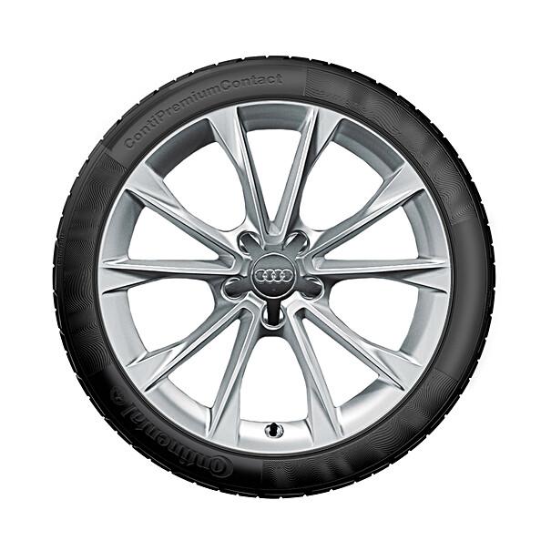 Audi 18 inch lichtmetalen zomerset, 5-V-spaak