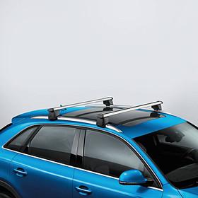 Audi Dakdragers Q3, met dakrailing