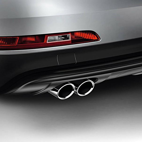 Audi Chromen uitlaatsierstuk Q3, dubbel links