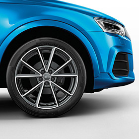 Audi 20 inch lichtmetalen zomerset, 5-V spaak antraciet