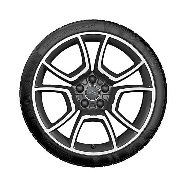 Audi 19 inch lichtmetalen zomerset, 5-arm Pila antraciet