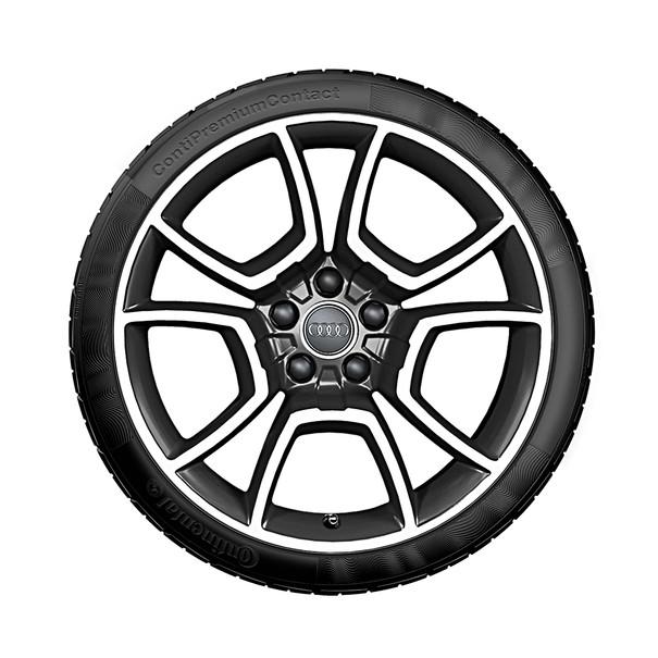 Audi 19 inch lichtmetalen zomerset, 5-arm Pila zwart