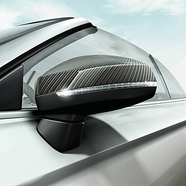 Audi Carbon spiegelkappen A3, zonder side assist
