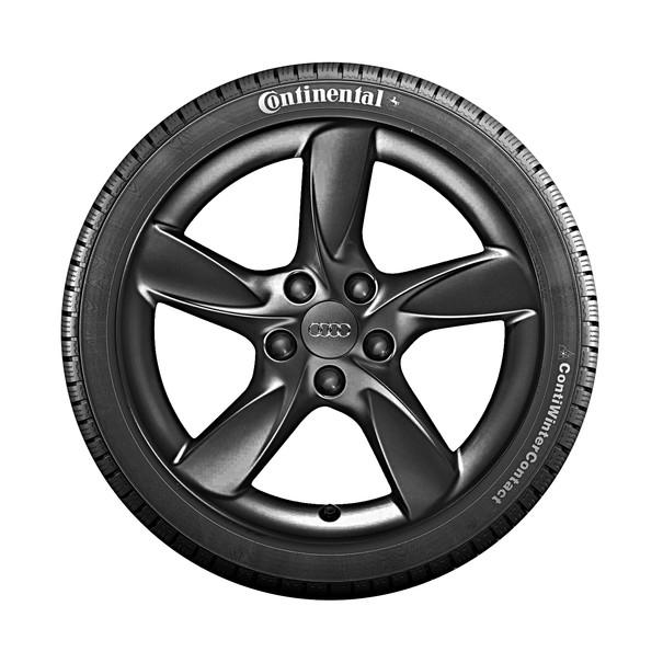 Audi 17 inch lichtmetalen winterset, 5-arm Helica zwart