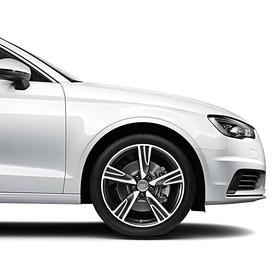Audi 18 inch lichtmetalen zomerset, 5-arm Velum zilver