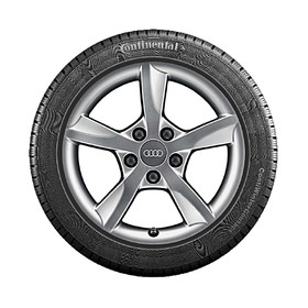 Audi 16 inch lichtmetalen winterset, 5-arm Rotor