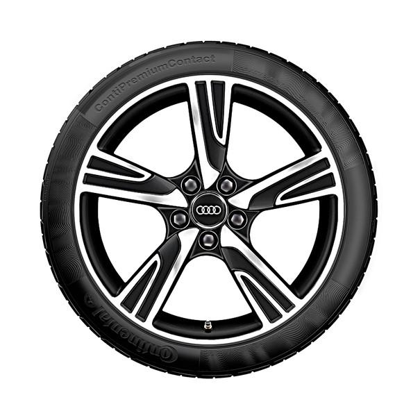 Audi 18 inch lichtmetalen zomerset, 5-arm Velum mat zwart