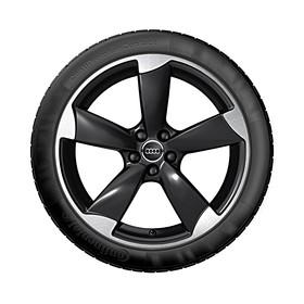 Audi 18 inch lichtmetalen zomerset, 5-arm Rotor mat zwart