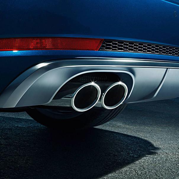 Audi Chromen uitlaatsierstukken A4, dubbel links
