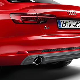 Audi Chromen uitlaatsierstukken A4, enkel links