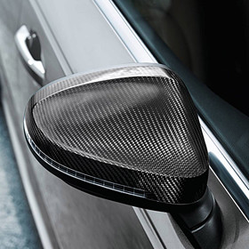 Audi Carbon spiegelkappen A4, met side assist