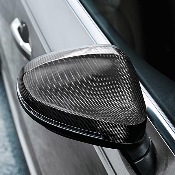 Audi Carbon spiegelkappen A4, met side assist