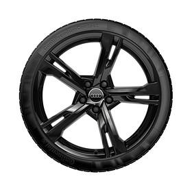 Audi 19 inch lichtmetalen zomerset, 5-arm Ramus zwart