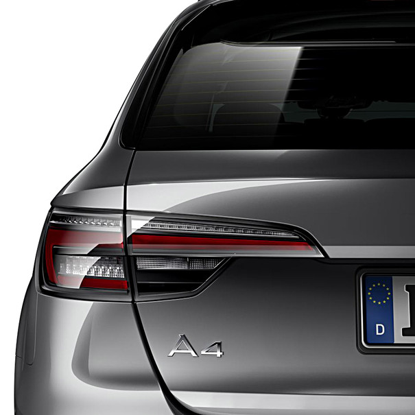 Audi LED achterlichten donker, A4 Avant