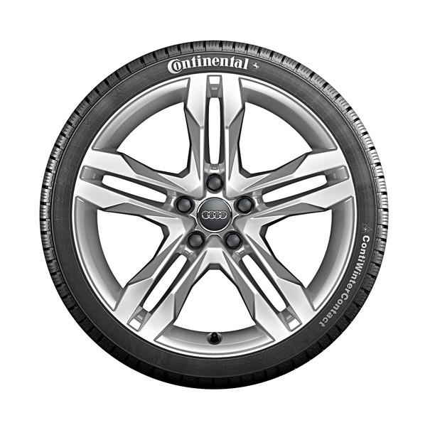 Audi 18 inch lichtmetalen winterset, 5-arm parallelspaak