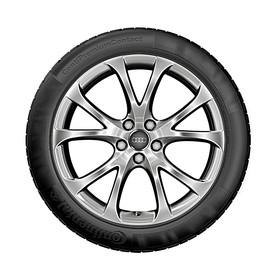 Audi 17 inch lichtmetalen zomerset, 5-V-spaak zilver