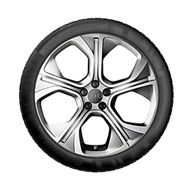 Audi 18 inch lichtmetalen zomerset, 5-arm Polygon zilver