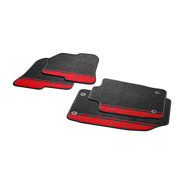 Audi Veloursmatten A1, rood, voor en achter