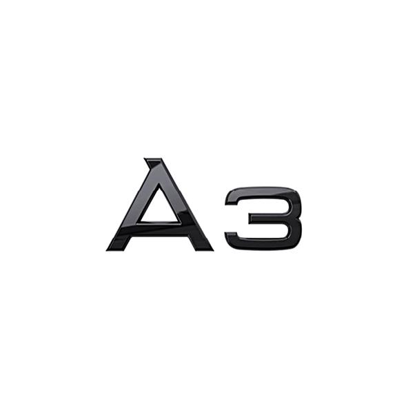 Audi Modeltype zwart achter A3
