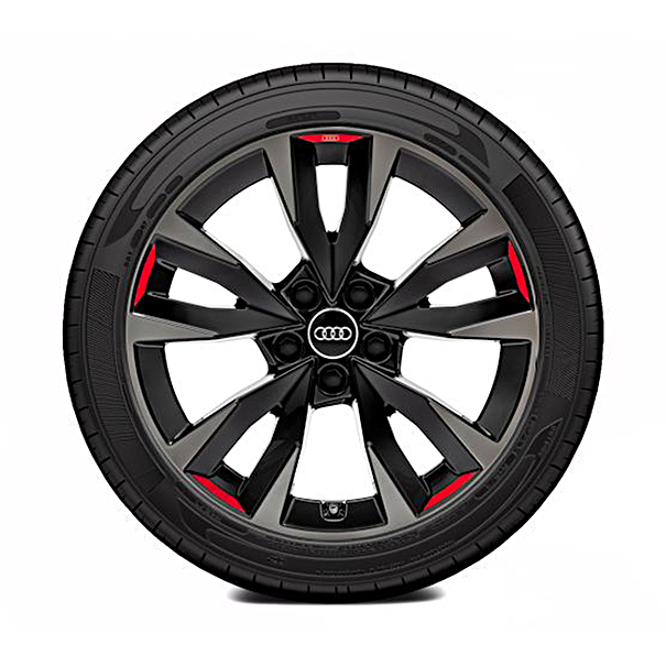 Audi 18 inch zomerset 5 V spaak zwart/antraciet