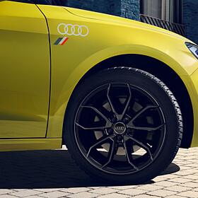Audi ringen en heritage vlag sticker