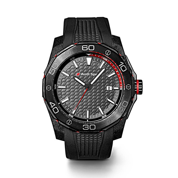 Horloge zwart, Audi Sport