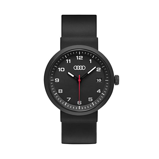 Audi horloge, zwart