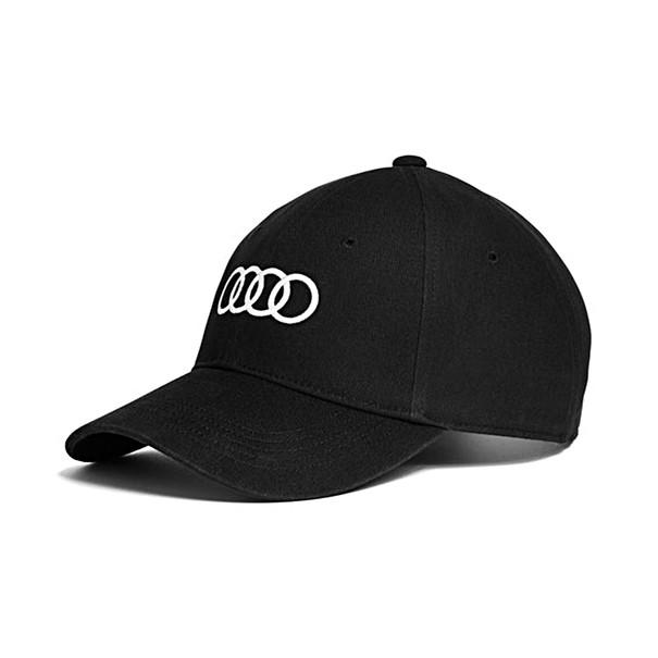 Cap zwart, Audi ringen